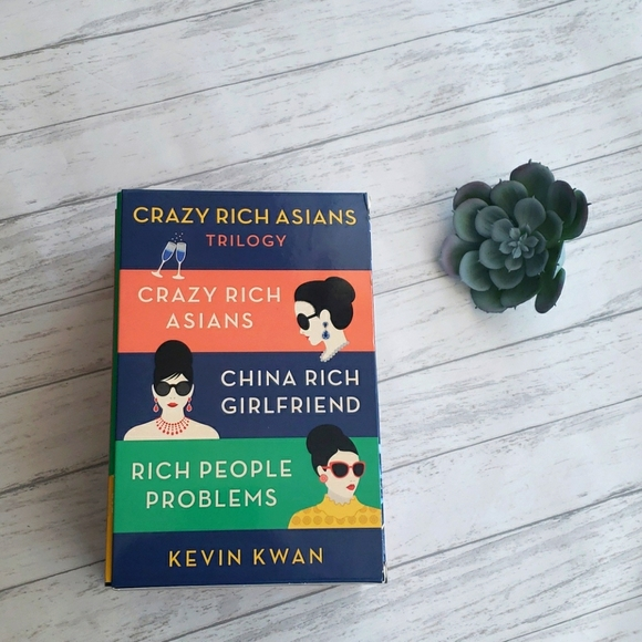 'CRAZY RICH ASIAN'  BOOKS = TRILOGY by Kevin Kwan